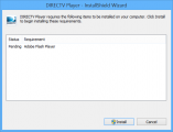 DirecTV Player Initial Install Attempt