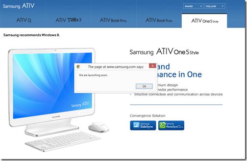 ATIV Q Web Site