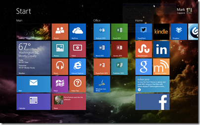 Mark Coppock Win 8.1 Start Screen