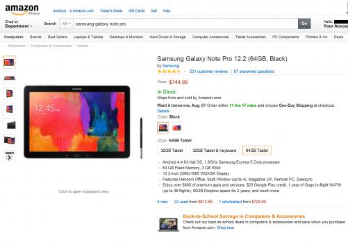 """Samsung Galaxy Tab Pro 12.2"""" 64GB"""