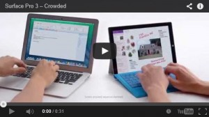 Surface Pro 3 v MacBook Air Ad