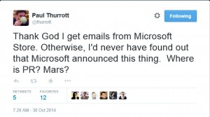 Thurrott Tweet