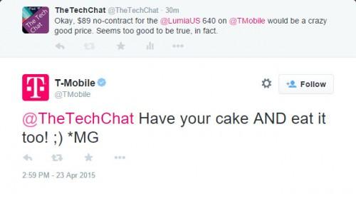 T-Mobile Lumia 640 Response
