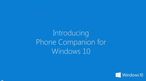 Windows 10 Phone Companion App